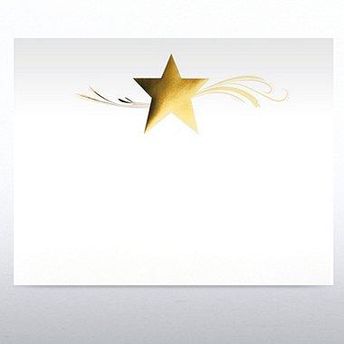 Foil-Stamped Certificate Paper - Star Dream - White