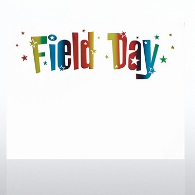 Foil-Stamped Certificate Paper - Field Day - Rainbow