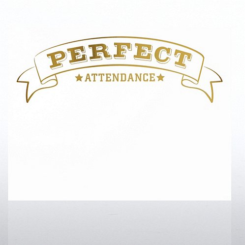 Perfect Attendance Foil-Stamped Certificate Paper