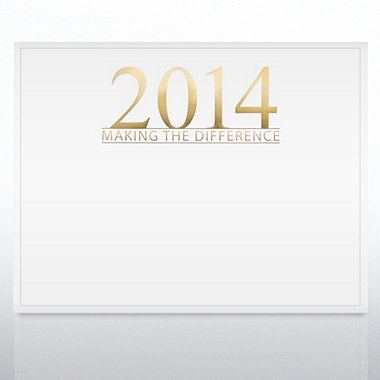 Foil Certificate Paper - 2014 Making the Difference - White