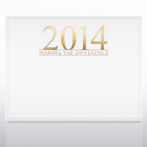 2014 Making the Difference Foil White Certificate Paper