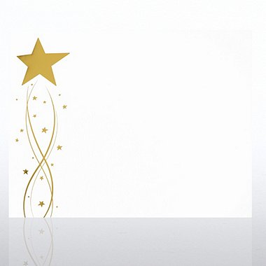 Foil-Stamped Certificate Paper - Gold Shooting Star