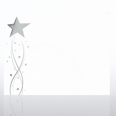 Foil-Stamped Certificate Paper - Silver Shooting Star