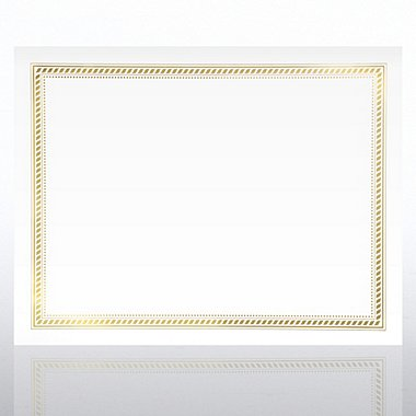 Foil-Stamped Certificate Paper - Nautical Lines - White