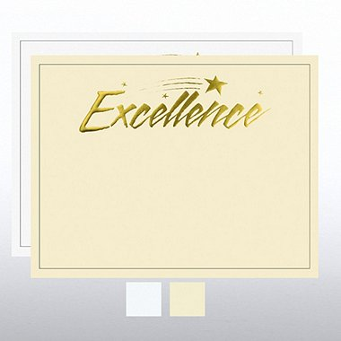 Foil Certificate Paper - Excellence Star