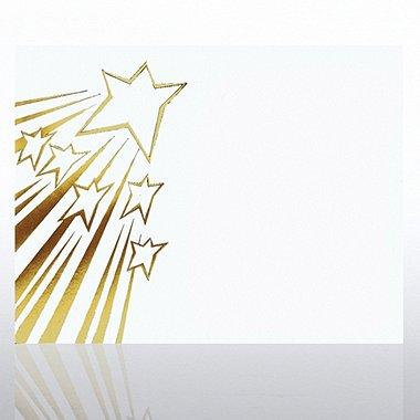 Foil Certificate Paper - Shooting Stars - White