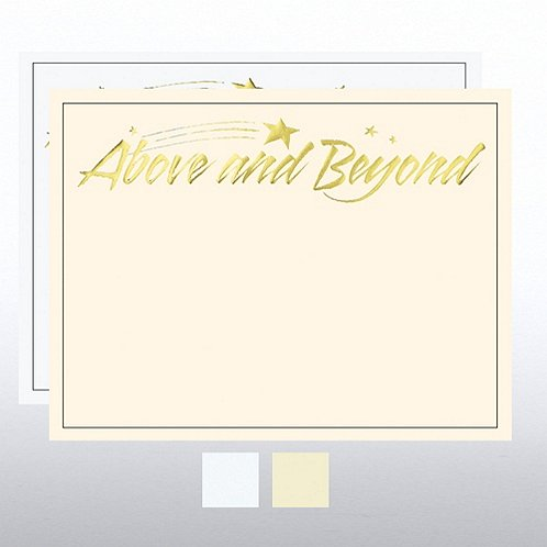 Above & Beyond Foil Certificate Paper