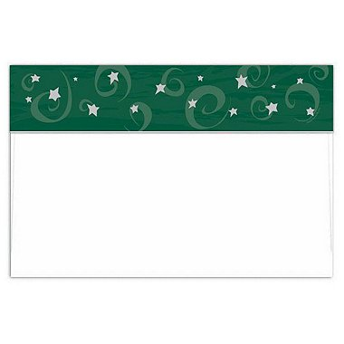 Envelope - Jumbo Postcard - Foil Emerald Evening