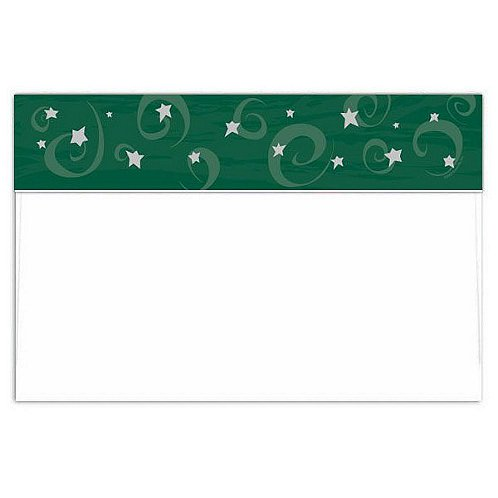 Emerald Evening Jumbo Foil Postcard Envelope
