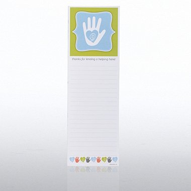 Quarter-Size Notepad - Helping Hand