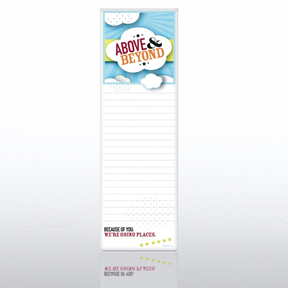Above and Beyond Quarter Sized Notepad
