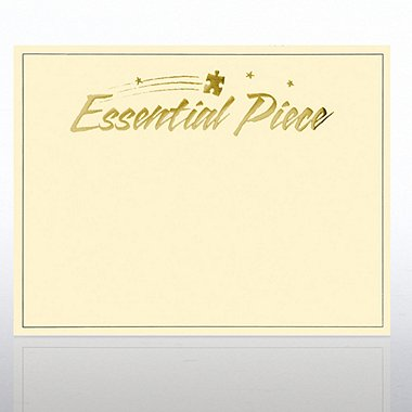 Foil Certificate Paper - Essential Piece - Cream w/ Gold