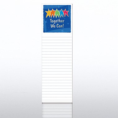 Quarter-Size Notepads - Together We Can