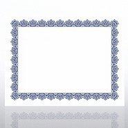 Certificate Paper - Scallop - Blue/Gold
