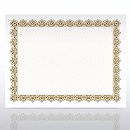 Certificate Paper - Scallop - Gold