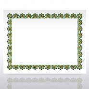 Certificate Paper - Scallop - Green/Gold
