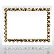 Certificate Paper - Scallop - Gold/Black