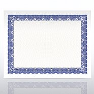 Certificate Paper - Cabaret - Royal Blue