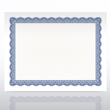 Certificate Paper - Official - Royal Blue