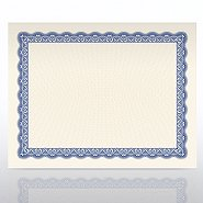 Certificate Paper - Official - Natural Parchment - Blue