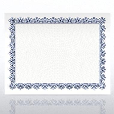 Certificate Paper - Scallop - Royal Blue