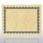 Certificate Paper - Scallop - Aged Parchment - Royal Blue