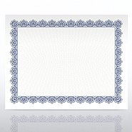 Recycled Certificate Paper - Scallop - Royal Blue