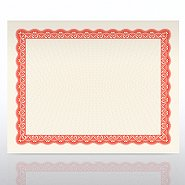 Certificate Paper - Official - Natural Parchment - Red