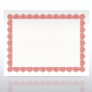 Certificate Paper - Scallop - Red
