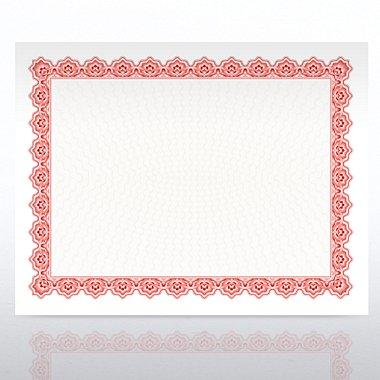 Certificate Paper - Scallop - Red