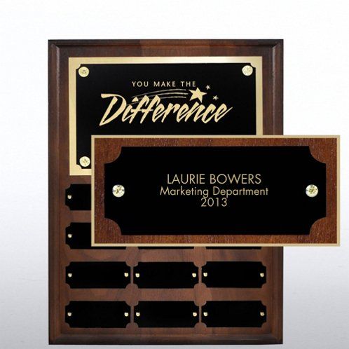Personalized Nameplate for Walnut Perpetual Plaque