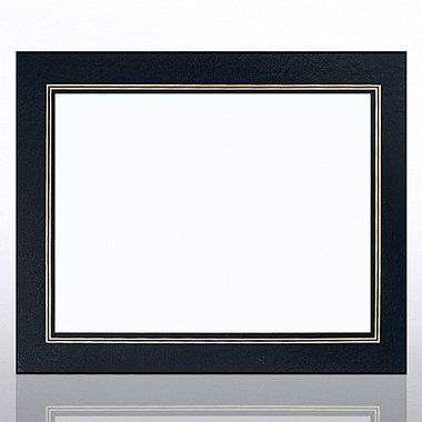 Leatherette Frame - Black - Foil Border