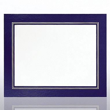 Leatherette Frame - Blue - Foil Border