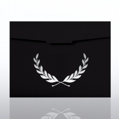 Certificate Folder - Laurel - Black