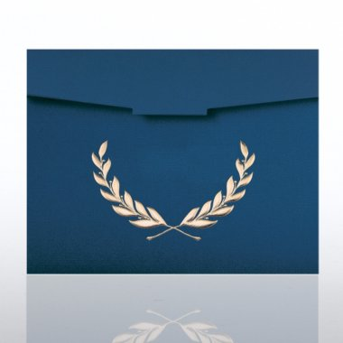 Certificate Folder - Laurel - Blue