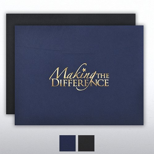 You Make the Difference Foil Stamped Certificate Folder
