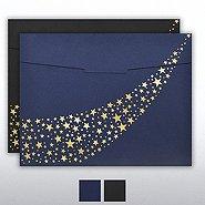Foil-Stamped Certificate Folder - Stars