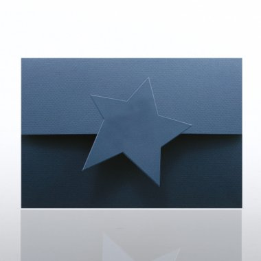 Certificate Folder - Half Size w/ Star Flap - Blue