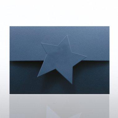 Certificate Folder - Half Size w/ Star Flap - Blue
