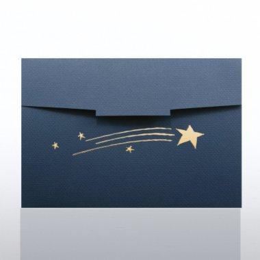 Certificate Folder - Half Size Gold Foil - Shooting Stars