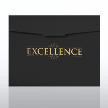 Certificate Folder - Excellence - Black w/Gold Foil