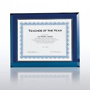 Beveled Glass Frame - Blue