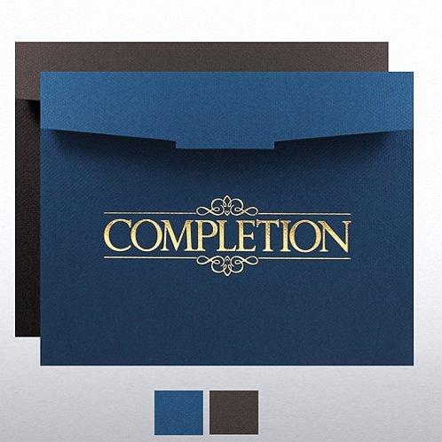 Completion Foil-Stamped Certificate Folder