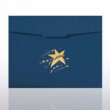 Certificate Folder - Celebration Star - Blue