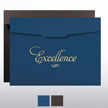 Foil-Stamped Certificate Folder - Excellence Formal