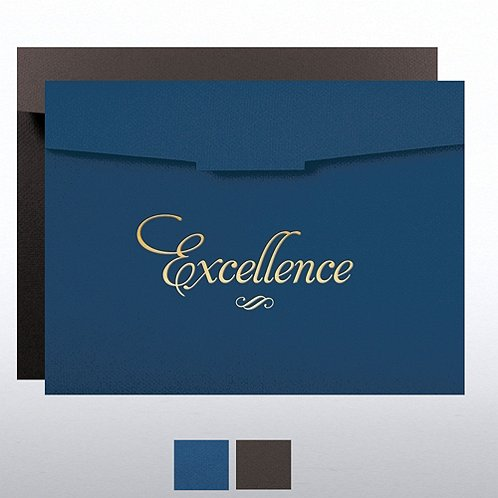 Excellence Formal Foil Stamped Certificate Folder