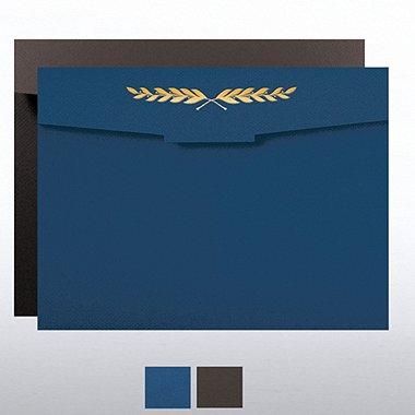 Laurel Flap Design Foil Certificate Folder