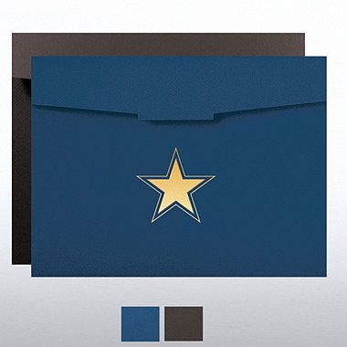 Foil-Stamped Certificate Folder - Contemporary Star
