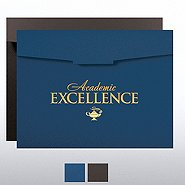 Foil-Stamped Certificate Folder - Academic Excellence Lamp