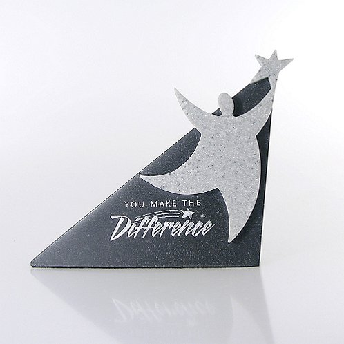You Make the Difference Sculptured Desk Awards